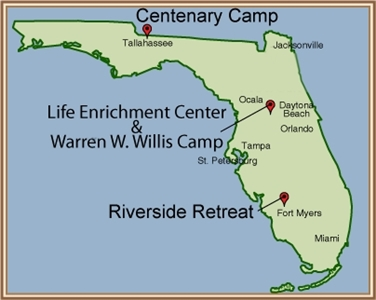 Map of Florida Conference camp sites